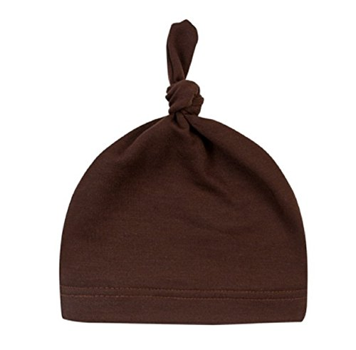 [Hot Sale! Baby Beanie Cute Newborn Toddler Beanie Infant Boys Girls Cotton Knot Sleep Hats baby products (Length: 35cm/13.77, Coffee)] (Coffee Cup Costume Uk)