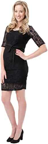 225c38f3a5 Ripe Maternity Paisley Lace Cocktail Dress - Black - X-Large