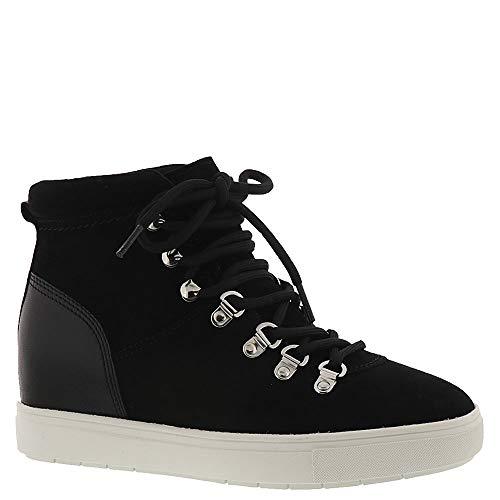 STEVEN by Steve Madden Women's Kalea Sneaker, Black Suede, 6 M US
