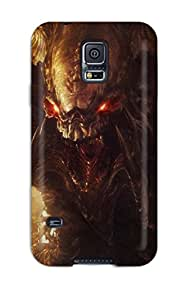 Nick Tate Premium Protective Hard Case For Galaxy S5- Nice Design - Alien Demon