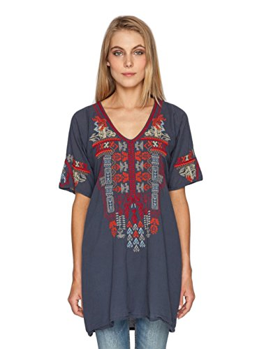 Biya By Johnny Was Navy Eclipse Sameera Blouse (X-Large)
