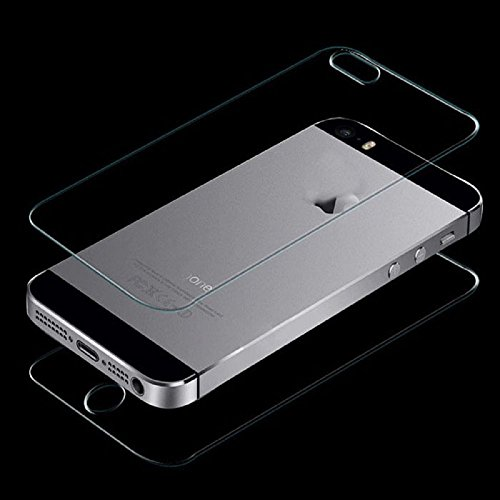 Tempered Front and Back Glass Screen Protector for iPhone SE/5S/5 - 1