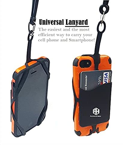 Universal Lanyard Cell Phone Neck strap Case Cover Holder Wrist Strap With ID Card Slot For iPhone 6 6S 7 Plus Galaxy S7 S7 Edge Note 3 4 5 and Other Mobile Phones (Cell Phone Accessories)