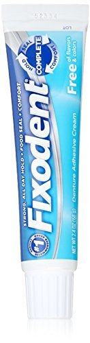Fixodent Complete Free Denture Adhesive Cream, 2.4 Oz - by Fixodent