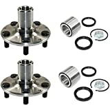 DTA D930502+NT513248 x2-2 Rear Wheel Hub Wheel Bearing Kits Left and Right Fits Subaru Legacy Impreza Forester With Seals Nut Retaining Clip - AWD Only