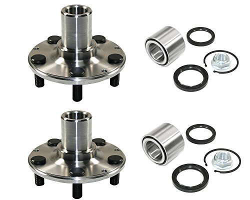 DTA D930502+NT513248 x2 - 2 Rear Wheel Hub Wheel Bearing Kits Left and Right Fits Subaru Legacy Impreza Forester With Seals Nut Retaining Clip - AWD Only (Hub Rear Drive Assembly)