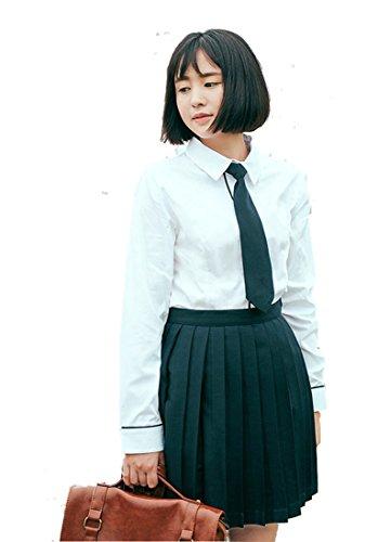 Beautifulfashionlife Women's Japan high Waisted Pleated Cosplay Costumes Skirts