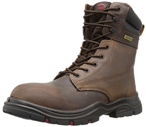 """Avenger Safety Footwear Men's 7266 8"""" Waterproof EH Wide Comp Toe Work Boot Industrial and Construction Shoe"""