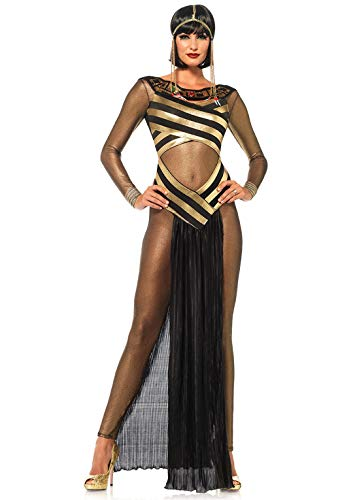 Halloween Costumes 2019 Tv Shows (Leg Avenue Women's Costume, Gold/Black,)
