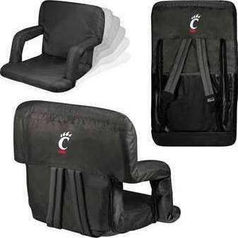 NCAA Cincinnati Bearcats Ventura Portable Reclining Seat, Black