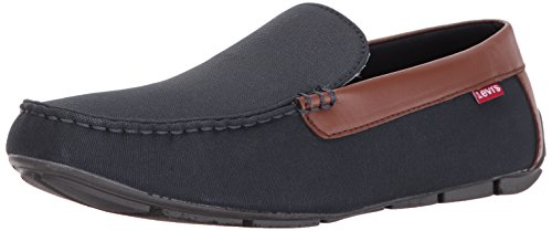 Levis Men's Royce C Driving Style Loafer, Navy/Brown, 11 M US