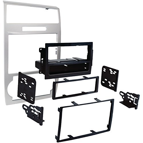 metra-99-6519s-single-double-din-dash-installation-kit-for-select-2005-07-dodge-charger-magnum-silve