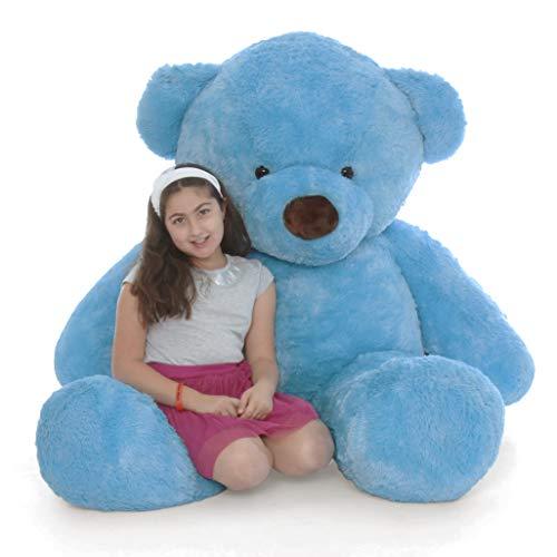 (Giant Teddy Original Bear Brand - Biggest Selection of Life Size Stuffed Teddy Bears (Sky Blue, 6 Foot))