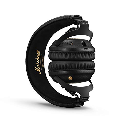 41CqB8gQ6zL - Marshall Mid ANC Active Noise Cancelling On-Ear Wireless Bluetooth Headphone, Black (04092138)