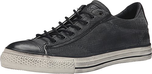 Converse by John Varvatos Distressed Canvas Vintage Slip On Sneaker Black (6 D(M) US Men)