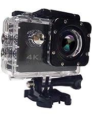 كاميرا فل اتش دي 4K اكشن رياضية مع واي فاي 1080P اتش دي ام اي بشاشة ال سي دي 2 انش مضادة للماء للاستخدام الخارجي والغوص 30 متر