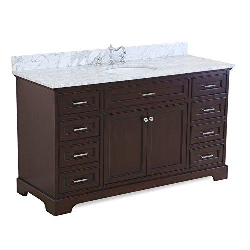 60 inch Single Bathroom Carrara Chocolate product image