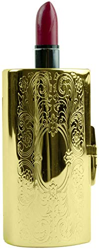 Vintage Gold Victorian Scroll Boxed Lipstick Case With Mirror ()