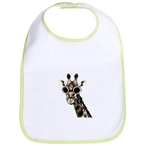 CafePress - Giraffe With Steampunk Sunglasses Goggles Bib - Cute Cloth Baby Bib, Toddler Bib