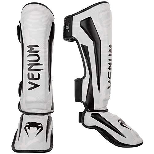 Venum Elite Shin Guards – White/Camo – L