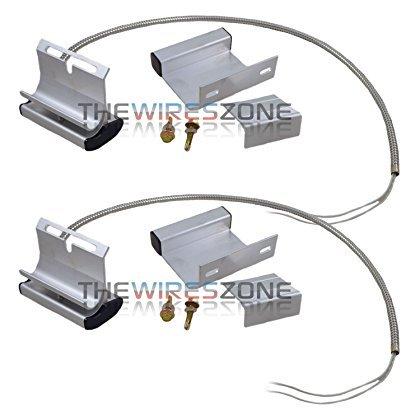 2 Pack Overhead Garage Door Floor Alarm Switch Contact Sensor Track
