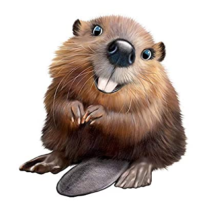 """Beaver 12"""" Tall Removable Wall Decal Sticker - Officially Licensed Animal Club International Wall Slaps Collection: Handmade"""
