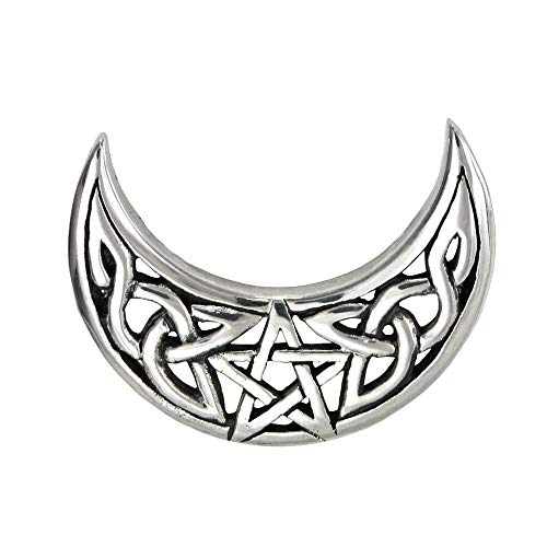 1 Pc .925 Sterling Silver Pendant Celtic Knot Crescent Moon Pentacle Wicca Pagan -