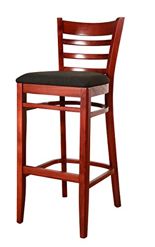 Beechwood Mountain BSD-5B-M Solid Beech Wood Bar Stool in Magany for Kitchen and dining