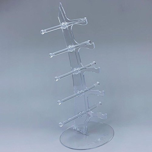 New 5 Layers Eyeglasses Sunglasses Glasses Display Stand Rack Holder Shelf DIY Transparent