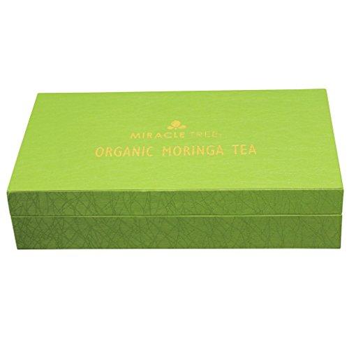 Miracle Tree – Gift Box with Organic Moringa Superfood Tea, 96 Individually Sealed Tea Bags