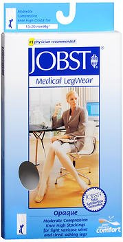 Jobst Medical LegWear Knee High 15-20 mmHg Opaque Small Silky Beige, Pack of 6