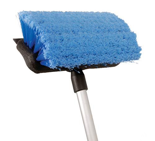 (attwood 11807-2 Deluxe Boat Deck Brush Kit with Flow-Through Brush Head and Squeegee)