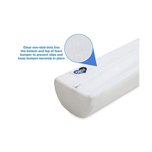 Delta Children Foam Bed Rails/Bumpers with Water-Resistant Covers and Non-Slip Bottoms for Toddlers & Kids 6