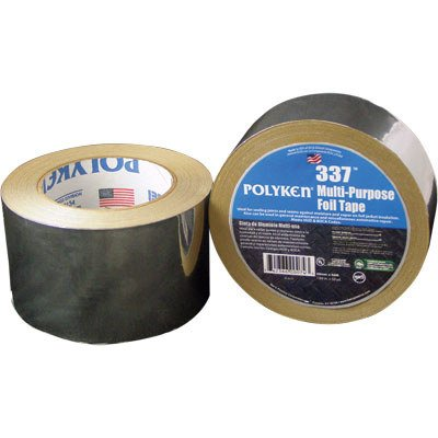 Polyken Aluminum Tape - 2 in Width x 50 yd Length - 3.7 mil Total Thickness - 337 2 X 50YD [PRICE is per ROLL]