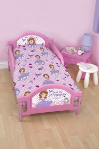 Sofia The First Amulet Girls Junior Toddler Cot Bed Set 4 In 1