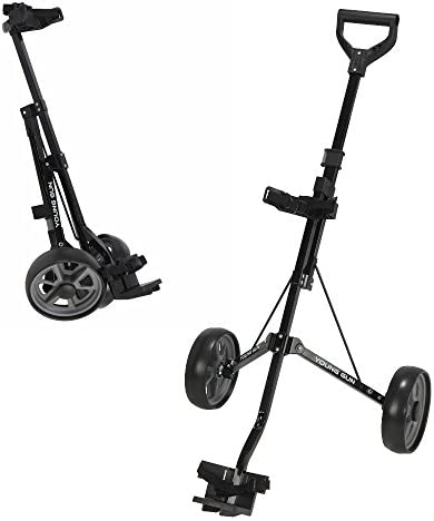 Young Gun Kids Adjustable Golf Cart for Junior Golfers 3-14 Years Old – Black Grey