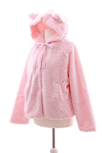 TS-54 rosa pink fluffy Plüsch Teddy Cat Katzen Ohren Ears Kapuzen Jacke  Lolita Harajuku Japan: Amazon.de: Spielzeug
