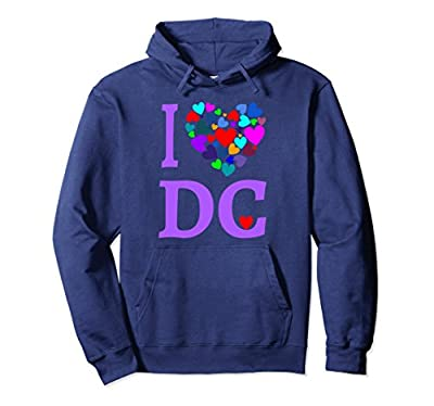I Love DC Hoodie Shirt Heart Design Washington D.C. Gift