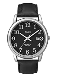 Timex Men's T2N370GP Dress Classic Black Dial and Black Leather Strap