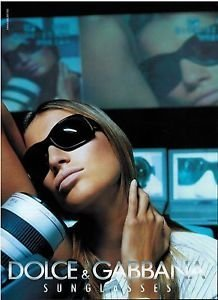 **PRINT AD** With Gisele Bundchen For 2003 Dolce & Gabbana Sunglasses **PRINT - Gisele Sunglasses Bundchen