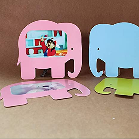 Amazon.com: Vivona Cute Elephant Paper Photo Frame Hanging 5inch Marcos De Fotos Pared Porta Retrato Moldura Decorative Wall Frames Portaretrato - (Color ...