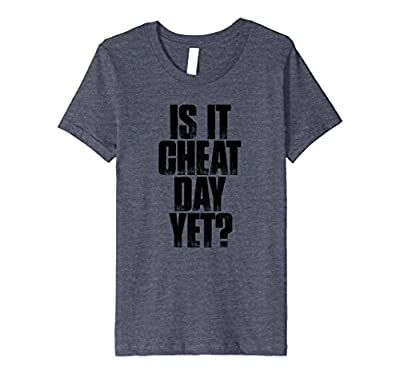 Is It Cheat Day Yet? T Shirt funny workout gym saying