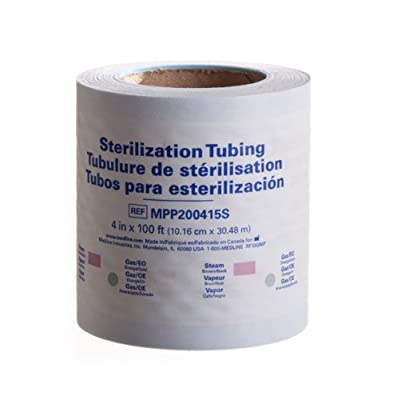 """Medline MPP200415SZ Instrument Sterilization Tubing/Roll, 4"""" x 100'"""
