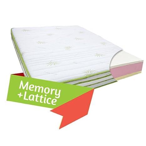 Materasso in Memory e Lattice Matrimoniale 160 x 190 Cm Alto 25 cm ...