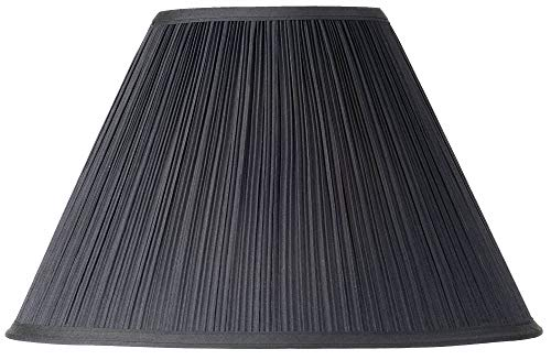 (Black Mushroom Pleated Lamp Shade 7x17 x11.5 (Spider) - Springcrest )