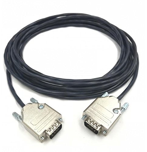 175 Foot DB9 Male to Male 22 AWG Plenum Black Jacket Serial Cable Made in USA by Custom Cable Connection