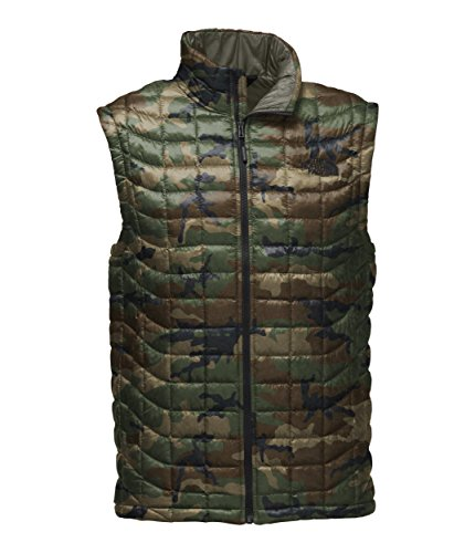 The North Face Men's Thermoball Vest - Terrarium Green Woodland Camo Print - XL (Vest Print Face The North)