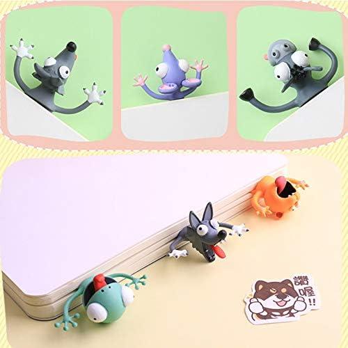 Burro Lectura M/áS Divertida Marcadores Bonitos Para Ni/ñOs Marcador Loco Palz Marcap/áGinas De Animales Aplastados De Dibujos Animados En 3d