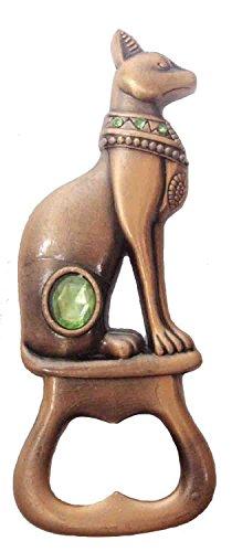 Egyptian Bastet opener Bast Goddess Cat Pharaoh Figurine Statue Ancient 3.7