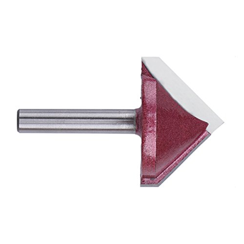 EnPoint™ Titanium Coated Carbide-Tipped Double Edge Miter Folding V-Groove Router Bit 15/64